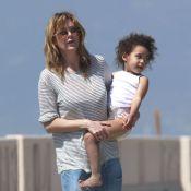Ellen Pompeo : Plage et cerf-volant avec sa fille Stella et son mari