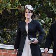 La princesse Eugenie d'York assistait le 31 mars 2013 à la messe de Pâques royale, en la chapelle St George à Windsor.