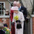 La reine Elizabeth II et le duc d'Edimbourg après la messe de Pâques à Windsor le 31 mars 2013.