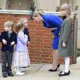 La comtesse Sophie de Wessex, accompagnée de sa fille Lady Louise (9 ans), a fait forte impression lors de la messe de Pâques à la chapelle St George de Windsor le 31 mars 2013.