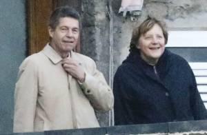 Angela Merkel, au naturel, poursuit son séjour romantique