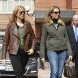 Les infantes Cristina et Elena d'Espagne rendant visite au roi Juan Carlos Ier à l'hôpital le 3 mars 2013.
