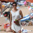 Olivier Martinez, Halle Berry et sa fille Nahla en vacances sur une plage d'Hawai le 27 mars 2013.