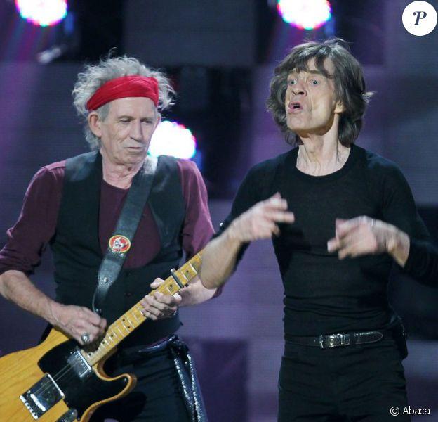 Mick Jagger et Keith Richards des Rolling Stones à New York le 12 décembre 2012.