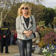 Bibi Andersen aux funérailles de la célèbre actrice espagnole Sara Montiel à Madrid, le 8 avril 2013.