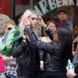 Taylor Momsen sur le tournage d'un clip à New York, le 9 avril 2013.