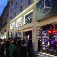 Soirée organisée par Mercedes-Benz dans son pop-up store à Paris pour le lancement de la nouvelle Classe A, le 11 avril 2013.
