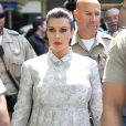 Kim Kardashian, enceinte, a fait le déplacement au tribunal Stanley Mosk de Los Angeles dans le cadre de la procédure de divorce avec Kris Humphries, le 12 avril 2013, malgré sa grossesse