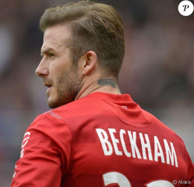 David Beckham lors du match entre Troyes et le PSG à Troyes le 13 avril 2013