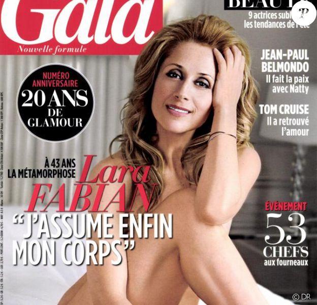 Lara Fabian pose nue dans Gala, en kiosques le 17 avril 2013