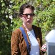 Exclusif - Lara Flynn Boyle, squelettique, et son mari Donald Ray Thomas II se rendent dans une clinique à Beverly Hills, le 16 avril 2013.