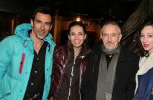 Adeline Blondieau, son chéri Laurent et Jean-Jacques Beineix célèbrent le 7e art