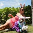 Mariah Carey a posté des clichés de son week-end de Pâques en famille sur son profil Instagram, dimanche 30 mars 2013.