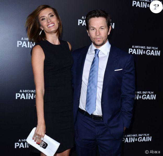 Mark Wahlberg et Rhea Durham radieux lors de la première de Pain and Gain au TCL Chinese Theatre de Los Angeles, le 22 avril 2013.