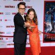 Robert Downey Jr. et sa femme Susan lors de l'avant-première du film Iron Man 3 à Hollywood (Los Angeles) le 24 avril 2013