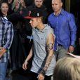 Justin Bieber à la sortie de son hôtel à Stockholm, le 23 avril 2013.