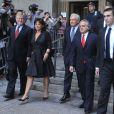 Dominique Strauss-Kahn et Anne Sinclair sortant du tribunal de Manhattan à New York, le 23 août 2011. Les poursuites pesant contre DSK viennent d'être abandonnées.