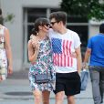 L'actrice Keira Knightley et James Righton, le 1er juillet 2012 à New York.