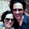 """Lana Parrilla et son fiancé Fred Di Blasio. Mai 2013."""