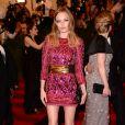 Kate Bosworth assiste au gala Punk : Chaos to Couture du Costume Institute au Metropolitan Museum of Art, habillée d'une robe Balmain (collection automne-hiver 2013). New York, le 6 mai 2013.
