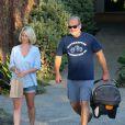 Kelsey Grammer, sa femme Kayte et leur fille Faith quittent un spa à Beverly Hills, le 31 janvier 2013.