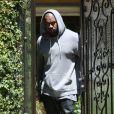 Kayne West quitte la maison de Kim Kardashian, à Los Angeles, le 11 mai 2013