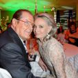 Sir Roger Moore et sa femme Kristina lors d'un dîner à Berlin, le 12 mai 2013.