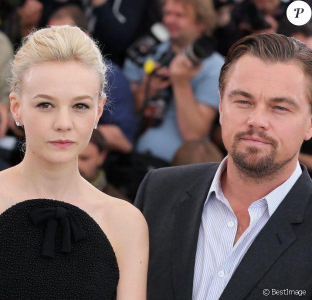 Carey Mulligan et Leonardo DiCaprio pendant le photocall du film Gatsby le Magnifique au 66e Festival International du Film de Cannes le 15 mai 2013.