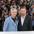 Baz Luhrmann, Leonardo DiCaprio au photocall de Gatsby le Magnifique au 66e Festival International du Film de Cannes le 15 mai 2013.