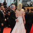 Baz Luhrmann et Carey Mulligan pour la montée des marches de Gatsby le Magnifique en cérémonie d'ouverture du Festival de Cannes, le 15 mai 2013.