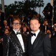 Leonardo DiCaprio, Amitabh Bachchan à la montée des marches de Gatsby le Magnifique en cérémonie d'ouverture du Festival de Cannes, le 15 mai 2013.