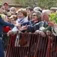 La princesse Letizia d'Espagne en déplacement dans la région de la Rioja, pour une exposition et un séminaire, le 16 mai 2013