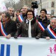 Christine Boutin à la manifestation des opposants au mariage pour tous à Paris, le 13 janvier 2013.