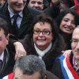 Christine Boutin à la manifestation des opposants au mariage pour tous à Paris, 13 janvier 2013.