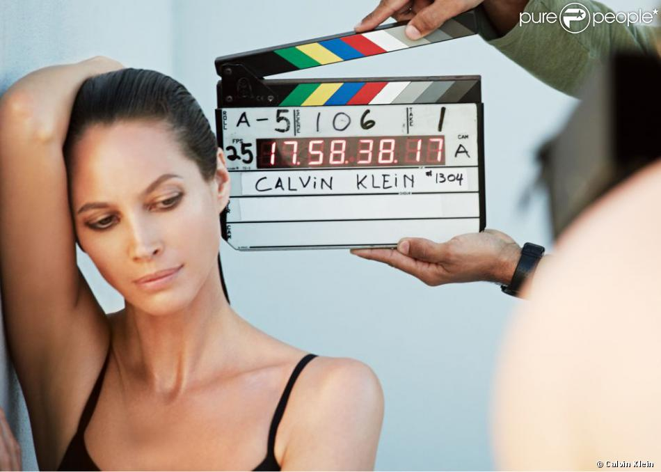 Christy Turlington dans les coulisses de la nouvelle camapagne Calvin Klein underwear automne 2013   PHOTO COULISSES : Avec la permission de Calvin Klein, Inc.