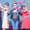 La talentueuse Aurore Delplace de l'émission The Voice 2 intègre la troupe du spectacle musical Salut les copains, au théâtre des Folies Bergère, à Paris le 16 mai 2013.