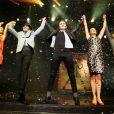 Aurore Delplace de l'émission The Voice 2 intègre la troupe du spectacle musical Salut les copains, au théâtre des Folies Bergère, à Paris le 16 mai 2013.