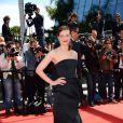 Céline Sallette lors de la montée des marches du film Un château en Italie au Festival de Cannes le 20 mai 2013