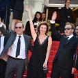 Valeria Bruni-Tedeschi lors de la montée des marches du film Un château en Italie au Festival de Cannes le 20 mai 2013