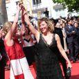 """Marisa Bruni Tedeschi (Borini) et Valeria Bruni Tedeschi - Montee des marches du film """"Un chateau en Italie"""" lors du 66 eme Festival du film de Cannes - Cannes 20/05/2013"""