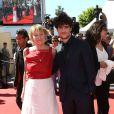 """Marisa Bruni Tedeschi (Borini) et Louis Garrel - Montee des marches du film """"Un chateau en Italie"""" lors du 66 eme Festival du film de Cannes - Cannes 20/05/2013"""