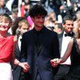 """Marisa Bruni Tedeschi (Borini), Louis Garrel et Valeria Bruni Tedeschi - Montee des marches du film """"Un chateau en Italie"""" lors du 66 eme Festival du film de Cannes - Cannes 20/05/2013"""