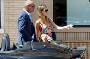 Christian Audigier et sa fiancée Nathalie : Pause shopping en amoureux