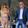 Christian Audigier et sa fiancée Nathalie Sorensen font du shopping à Beverly Hills, le 22 mai 2013.