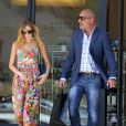 Christian Audigier et sa douce Nathalie Sorensen font une virée shopping à Beverly Hills, le 22 mai 2013.