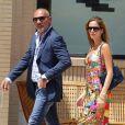 Christian Audigier et sa petite amie Nathalie Sorensen à Beverly Hills, le 22 mai 2013.