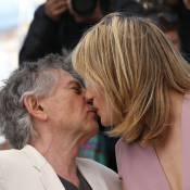 Cannes 2013 : Roman Polanski donne un baiser à sa Vénus Emmanuelle Seigner