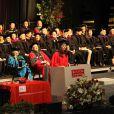 Exclusif - Nancy Brady, soeur de Tom Brady, reçoit son diplôme au cours d'une cérémonie à l'Université de Santé Publique de Boston. Le 18 mai 2013.