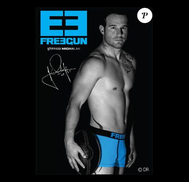 Frédéric Michalak est le nouvel ambassadeur de la marque de sous-vêtements Freegun.