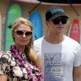Paris Hilton et son compagnon River Viiperi en vacances à Maui, le 27 mai 2013.